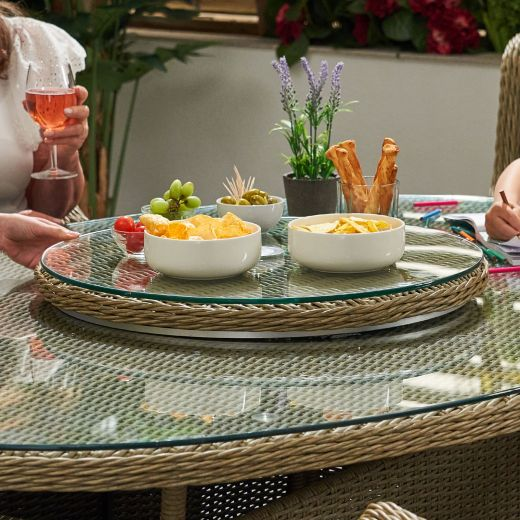Heritage 90cm Rotating Lazy Susan with Parasol Hole - Willow