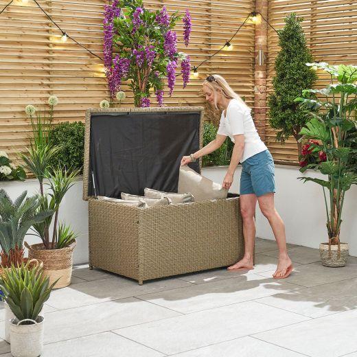 Heritage Standard Cushion Storage Box - Willow