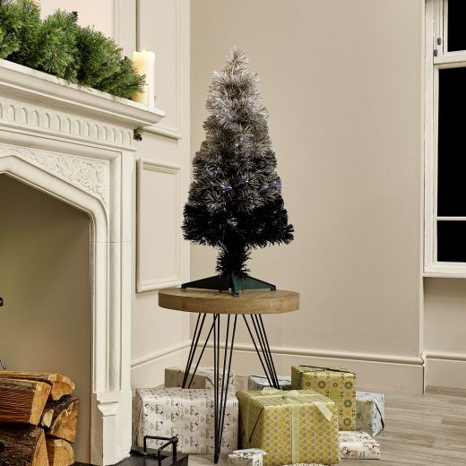 3ft Fibre Optic Grey Eclipse Fade Artificial Christmas Tree