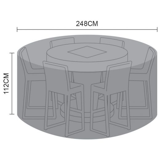 Cover for 6 Seat Round Bar Set - 248cm x 112cm