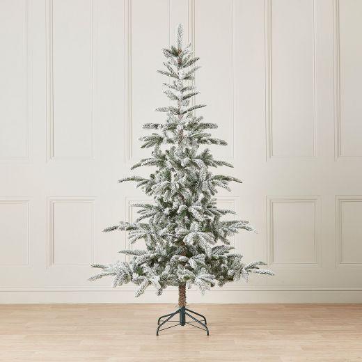8ft Snowy Nobilis Fir Artificial Christmas Tree