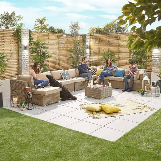 Chelsea 3A Rattan Corner Sofa Set - Willow