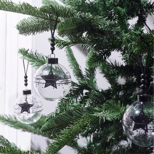 Christmas Rituals Set of 3 Glass Beaded Star Baubles