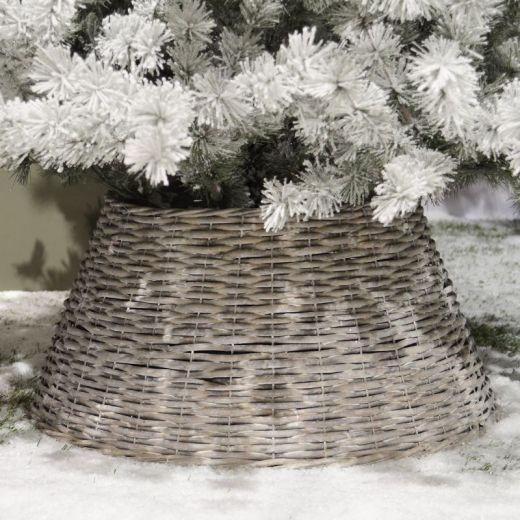 Kaemingk 70cm Christmas Tree Skirt Ring - Grey Wash