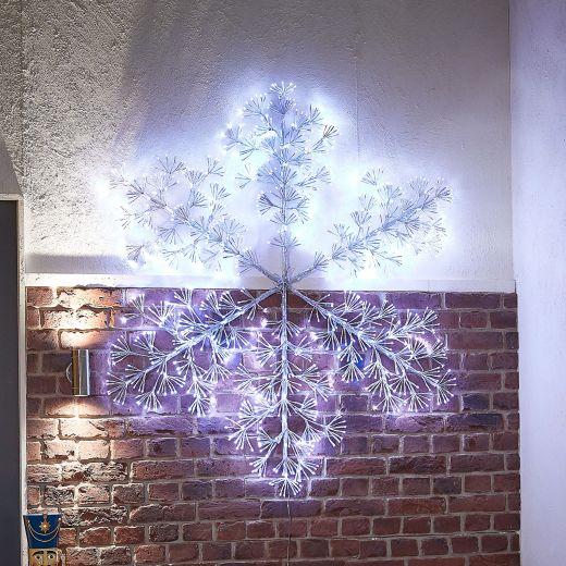 140cm Acrylic Starburst Christmas Snowflake - Cool White