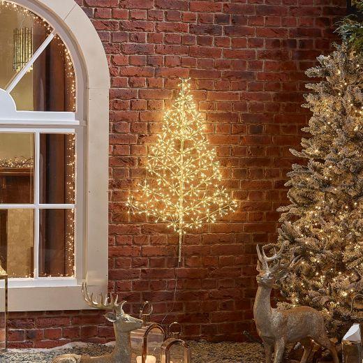 120cm Starburst Christmas Tree - Warm White
