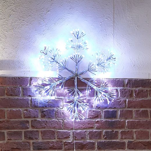 65cm Acrylic Starburst Christmas Snowflake - Cool White