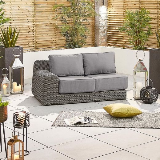 Luxor 2 Seat Right Hand Sofa Section - Slate Grey
