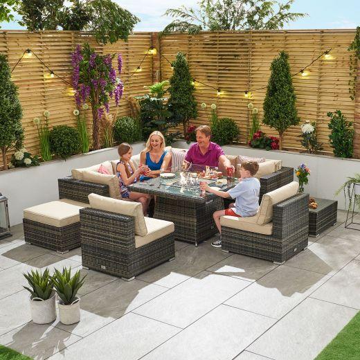 Chelsea 2C Rattan Corner Sofa Set - Brown