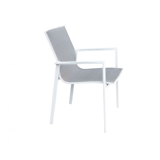 Pack of 6 Milano Dining Armchairs - White Frame