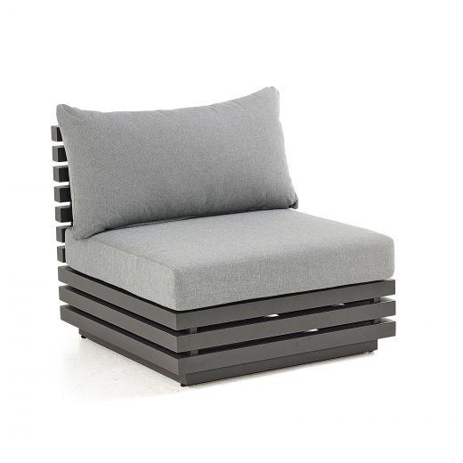 San Marino Aluminium Middle Sofa Section - Grey Frame