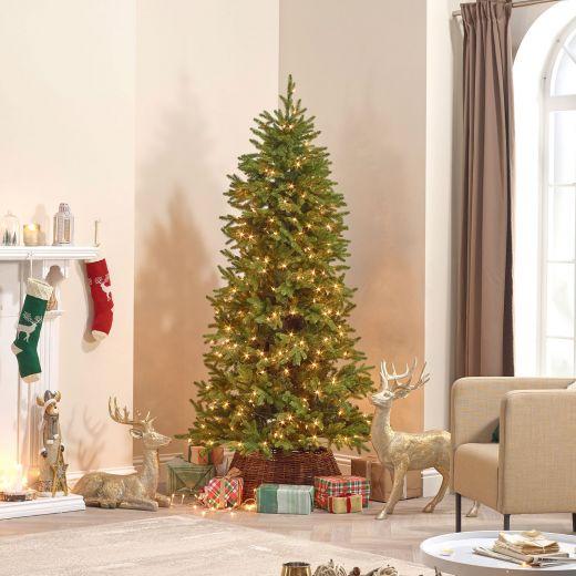 6ft Pre-Lit Pinyon Pine Artificial Christmas Tree