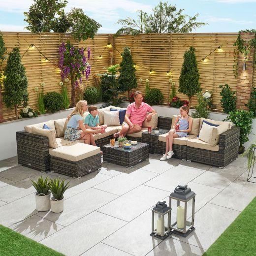 Chelsea 2A1 Rattan Corner Sofa Set - Brown