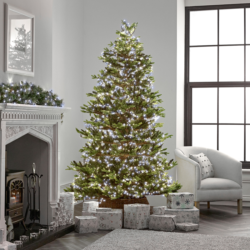 750 Led Compact Cluster Christmas Tree Lights White Stores