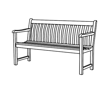 4 Seat Garden Benches White Stores The Outdoor Living